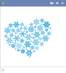 Snowflakes heart sticker for Facebook