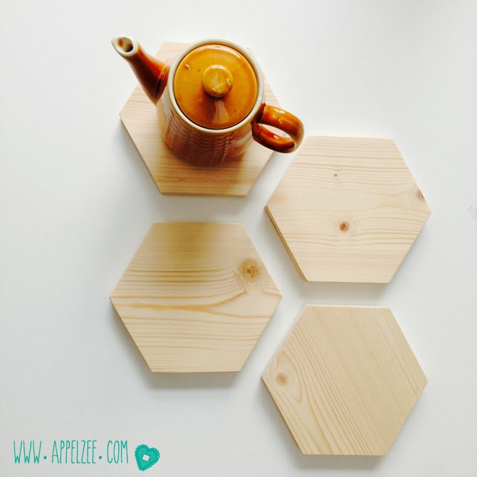 Trivets from recycled wood - www.appelzee.com