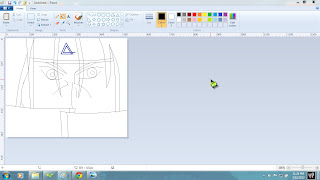 tutorial gambar anime itachi