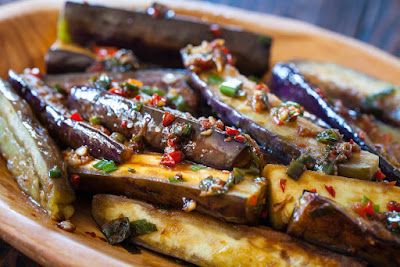 eggplants with garlic