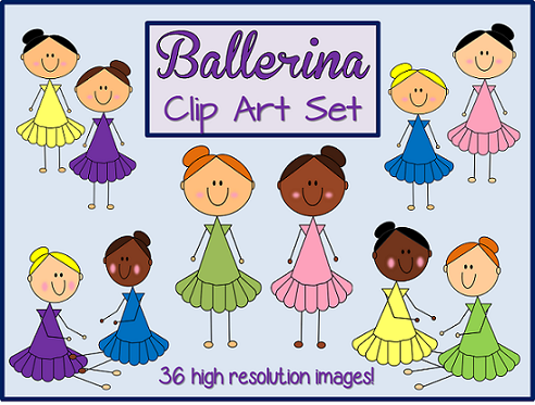 http://www.teacherspayteachers.com/Product/Ballerina-Clip-Art-Set-36-images-including-black-line-1384844