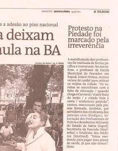 CORDEL BAIANO NA MANIFESTAÇÃO DOS PROFESSORES