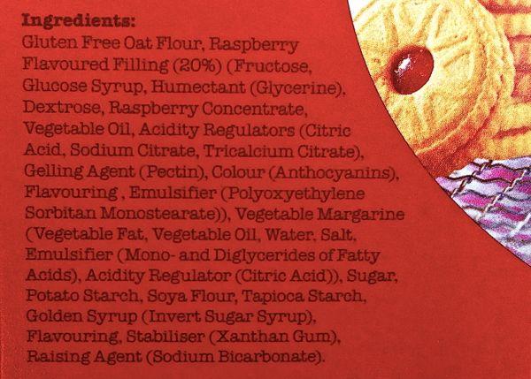 Prewetts Jammy Wheels ingredients