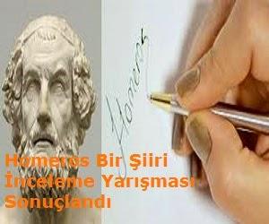 Homeros Bir Şiiri İnceleme Yarışması Sonuçlandı