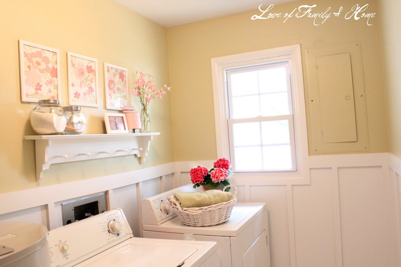 Diy cheap wall art love of family home - Paint colors for laundry room ...
