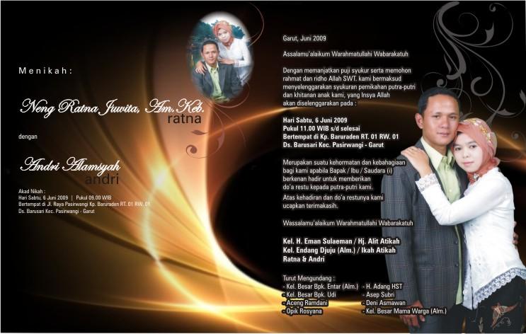 undangan pernikahan contoh undangan pernikahan contoh undangan ...