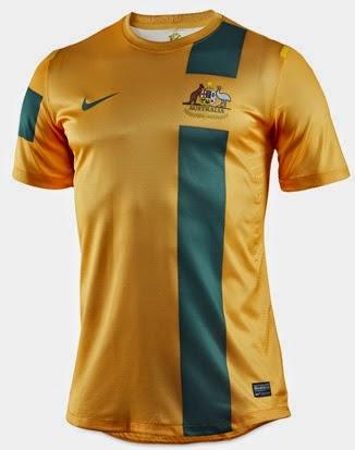 Kostum Timnas Australia Piala Dunia 2014