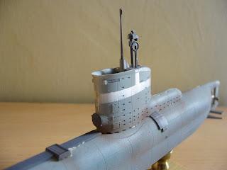 maqueta estatica de submarino aleman clase XXIII de la segunda guerra mundial