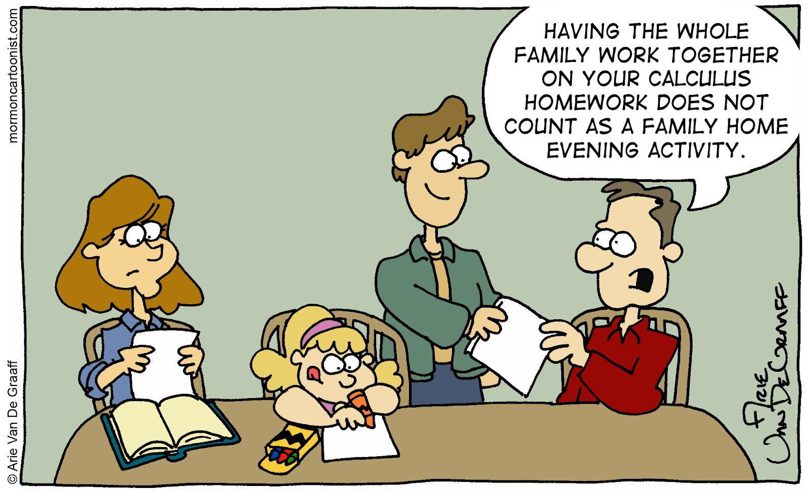 mormon cartoonist february 2012