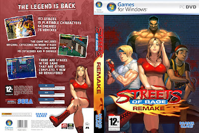 Streets Of Rage Remake PC DVD Capa