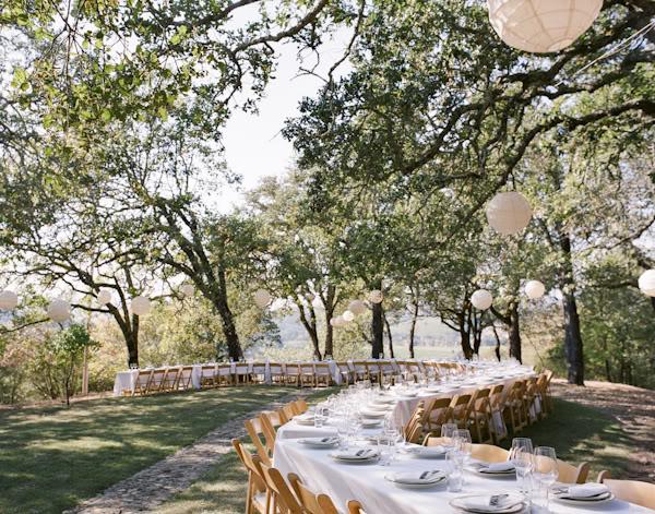 cafe lights and romantic wedding themes wedding band on table