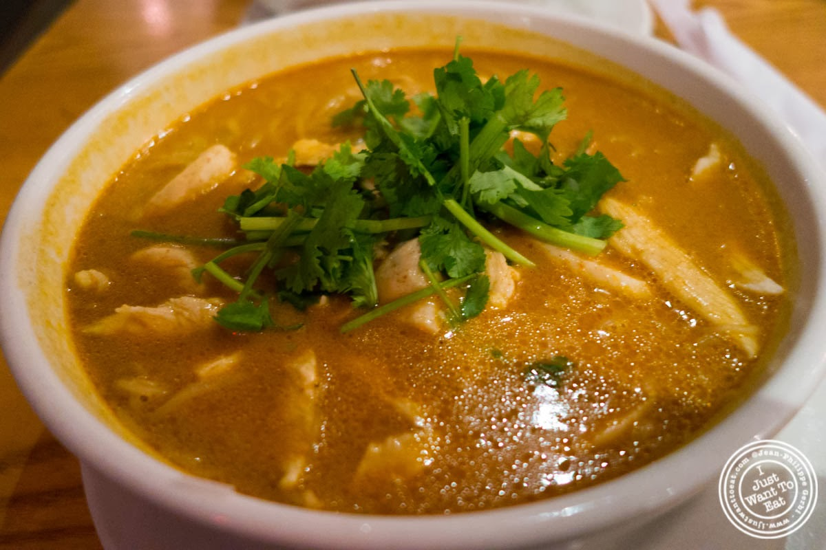 image of curry chicken noodle soup at Republic in Union Square, NYC, New York