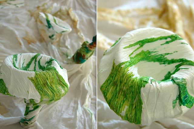tecnica della carta crespa dipinta a mano per Abilmente Roma  by Alessandra Fabre Repetto