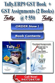 Tally.ERP9 Book + GST Practical Assignment @ Rs. 550