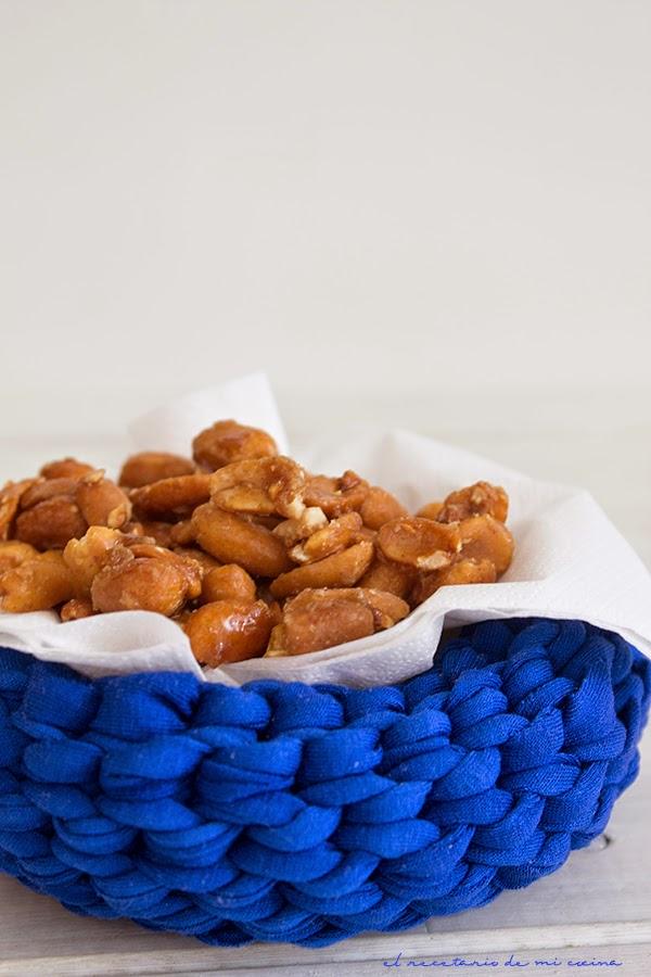 cacahuetes con miel y canela