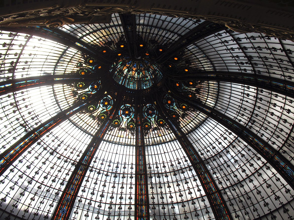 glass dome of Galerie Lafayette, Paris