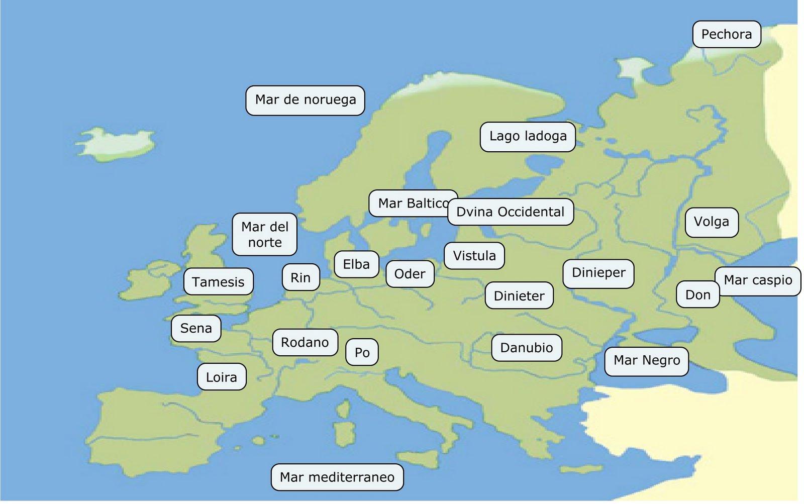 Mapa Rios Europa Juego