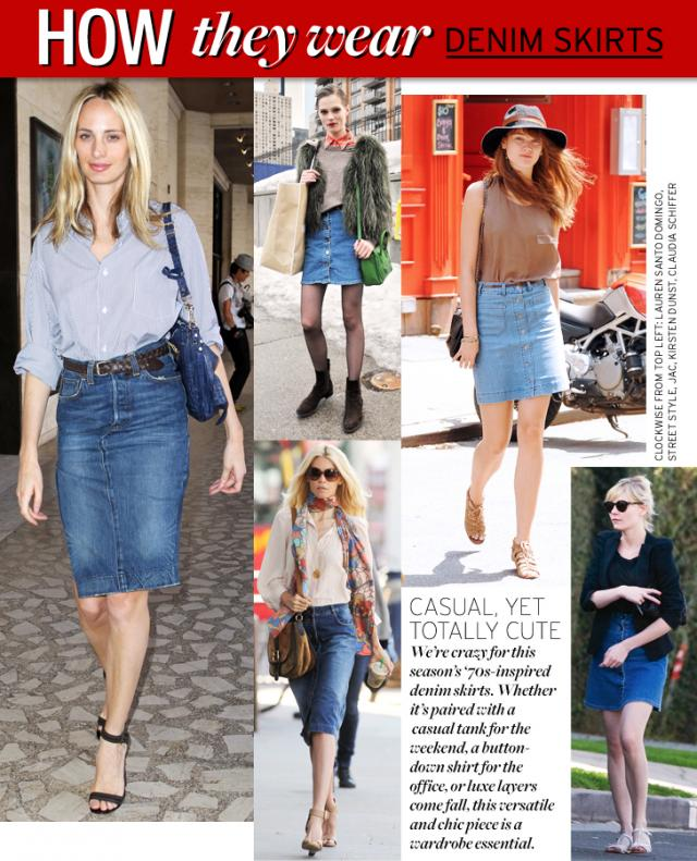 world of fashion how to wear denim skirt