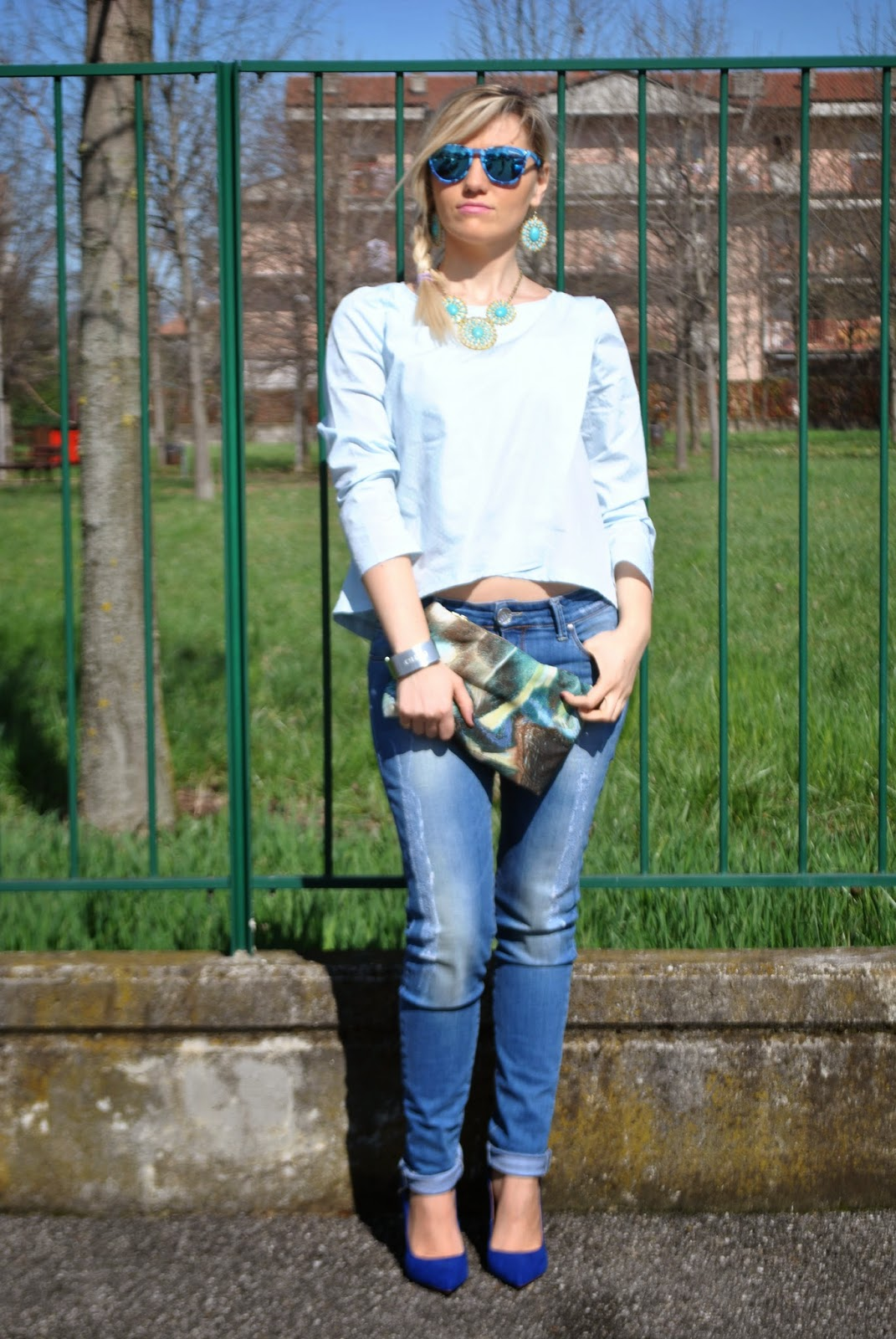 outfit azzurro outfit blu outfit jeans e camicia outfit jeans e tacchi mariafelicia magno colorblock by felym mariafelicia magno fashion blogger come abbinare il blu scarpe blu outfit scarpe blu scarpe blu zara camicia azzurra outfit primaverili casual outfit primaverili donna outfit marzo 2015 spring outfit how to wear jeans and heels how to wear jeans and shirt blue outfit spring outfit fashion bloggers italy girls blonde hair blue sunglasses