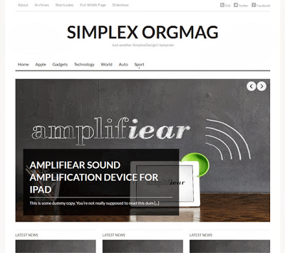 Download Clean White Blogger Templates of 2014