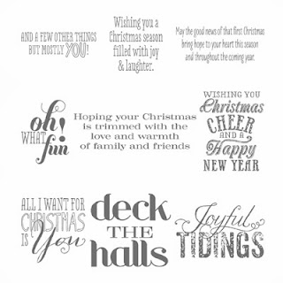 Christmas Messages Stamp Set
