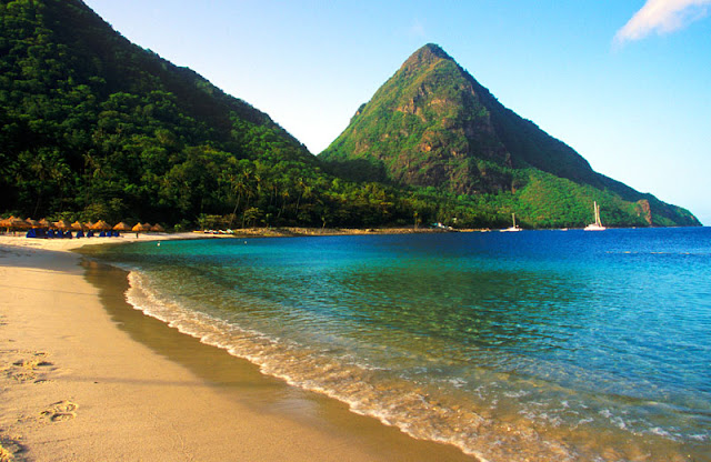 Caribbean best beaches in the world, Malgretoute Bay, near Soufriere, St Lucia