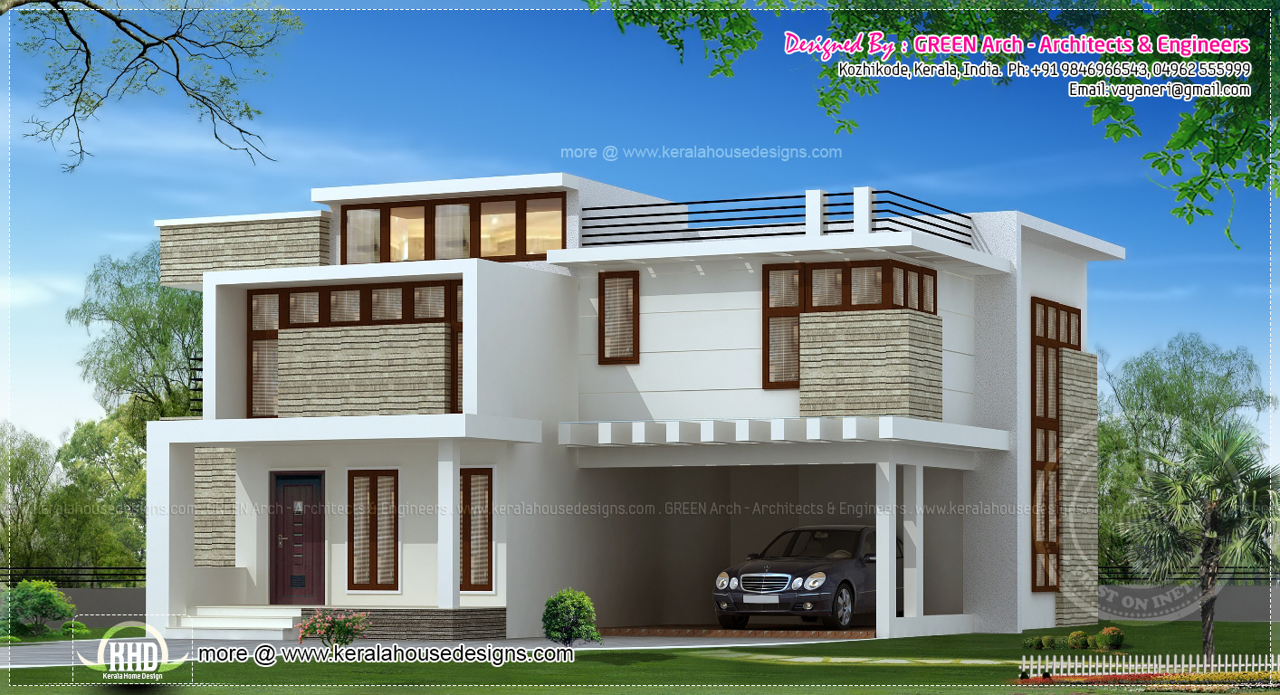 10 different house elevation exterior designs kerala for Different house designs and floor plans