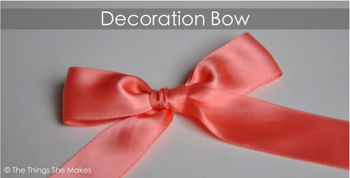 how to make a decoration bow the things she makes. Black Bedroom Furniture Sets. Home Design Ideas