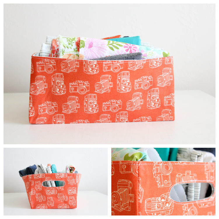 Fabric Storage Baskets by Delia Creates