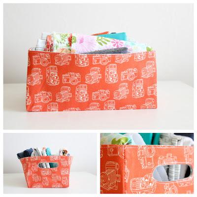 Estrutura de armazenamento cestas por Delia Cria