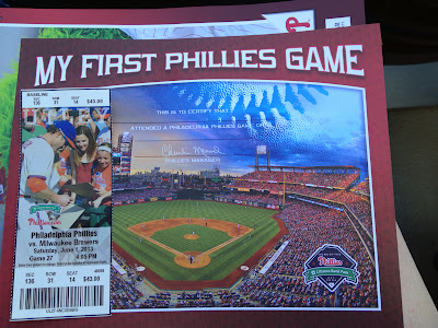 Jude's first Phillies Game