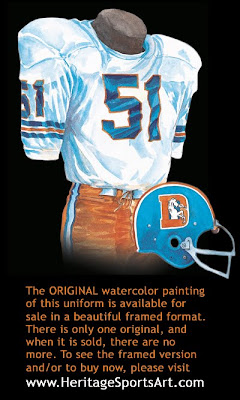 Denver Broncos 1971 uniform