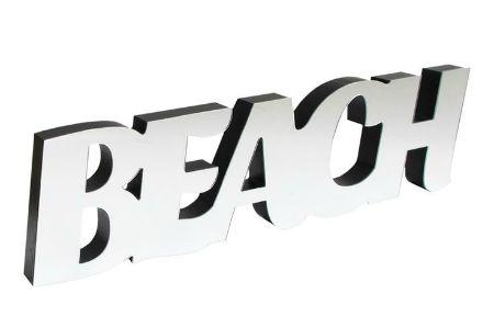 Beach Mirror Word Sign