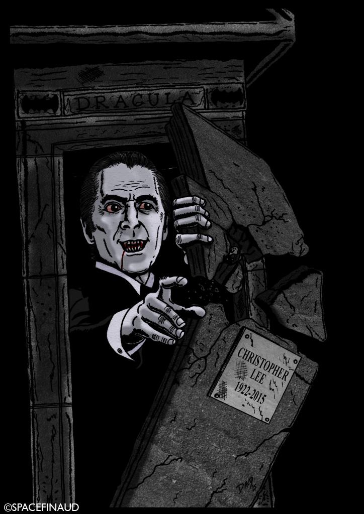 """Non, Sir Christopher Lee n'est pas mort. Sir Christopher Lee est immortel. Ce grand acteur, au longue carrière, s'est envolé comme une chauve souris à 93 printemps. On se souviendra de ses rôles de vampire dans la série de films """"Dracula"""", de Scaramanga dans un James Bond """"L'Homme Au Pistolet D'Or"""", de Sherlock Holmes, ainsi qu'un rôle dans """"Les Seigneurs des Anneaux"""" et """"Star Wars""""etc.  Il fut aussi un grand amateur de Metal.  Chapeau et salut l'artiste !"""