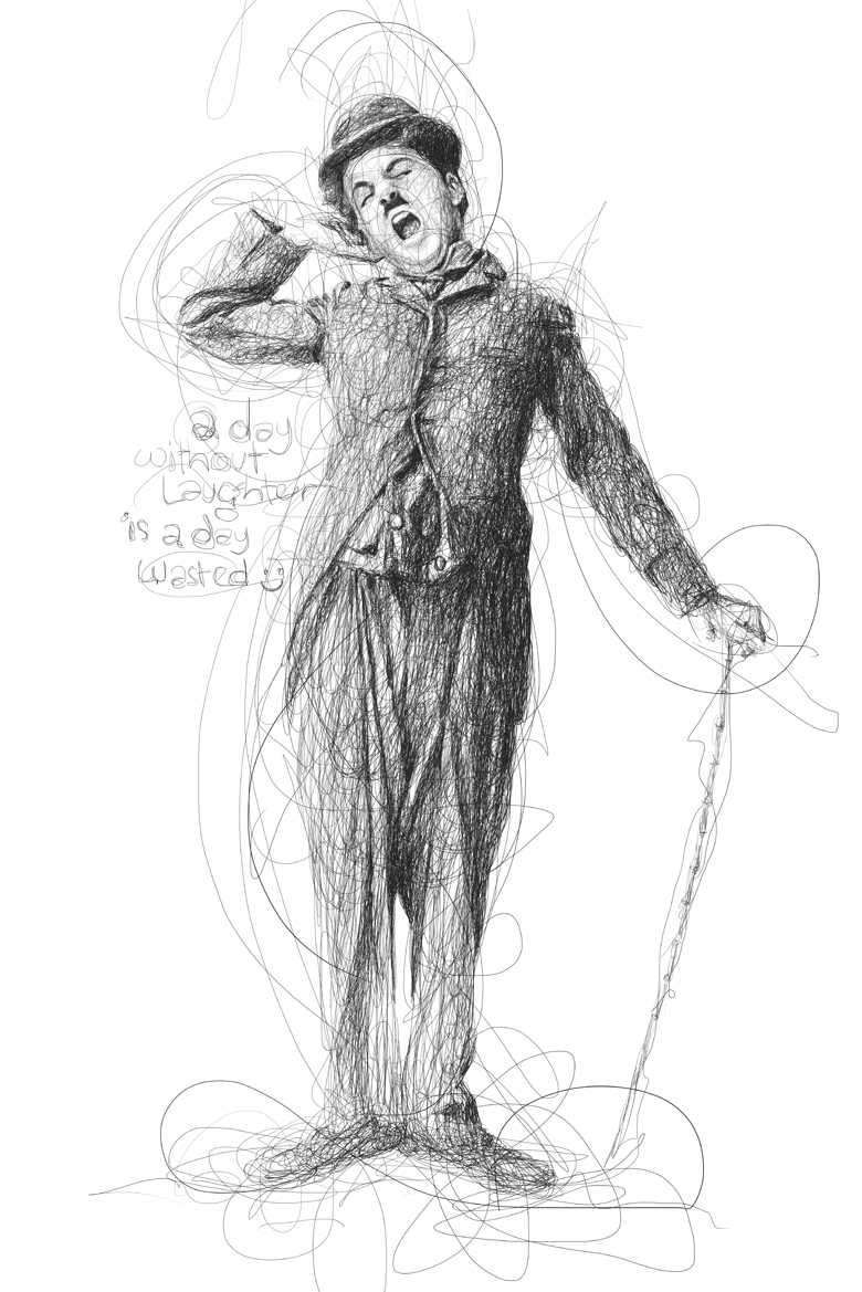 18-Charlie-Chaplin-Vince-Low-Scribble-Drawing-Portraits-Super-Heroes-and-More-www-designstack-co