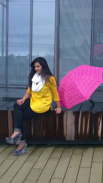 yellow tunic, golden tunic, white furry scarf, indian blogger, ananya, Indian tunics, Indian kurthi, kurtas