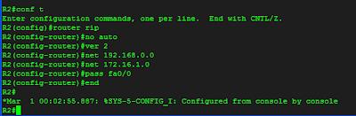 konfiurasi RIPv2 pada Router R2