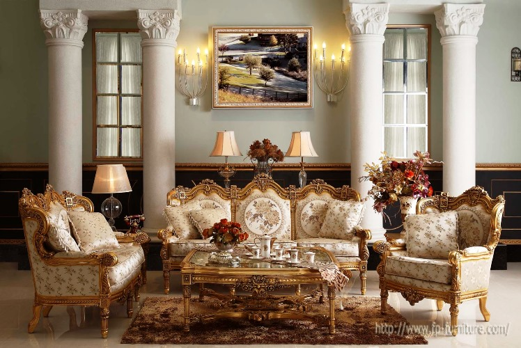 European Furniture Styles Elegant Classic Design Ideas For Living Room With  Antique Table Lamp Unique Wall Decor Best Vintage Wall Painting Color Cream  ...