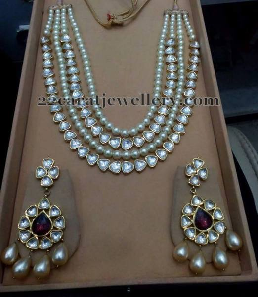 Pearls and Polki Layers Necklace