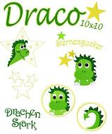 ♥ Draco der Sternengucker 10x10 Stickdatei