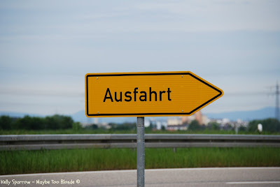 Autobahn ausfahrt sign, Germany
