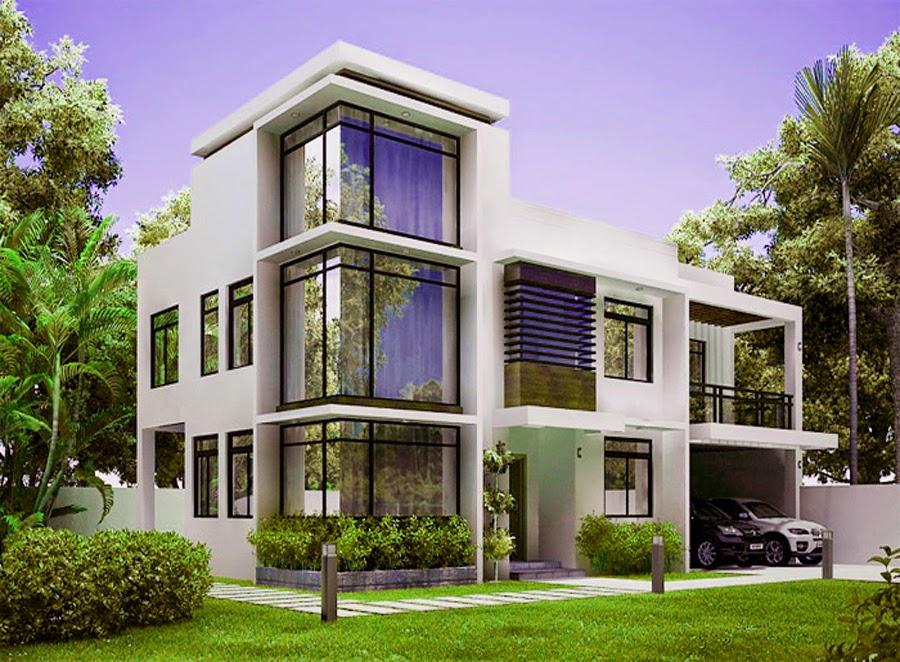 desan rumah minimalis modern 2 lantai
