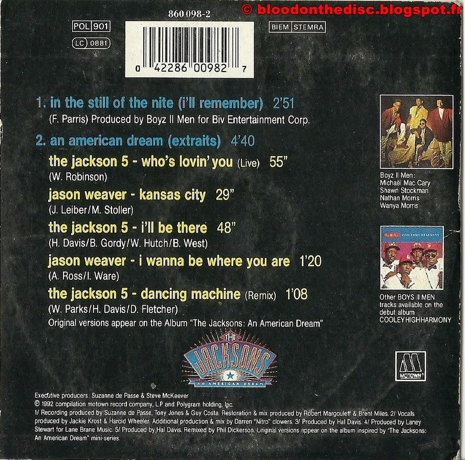 In The Still Of The Nite CD Single pochette arrière