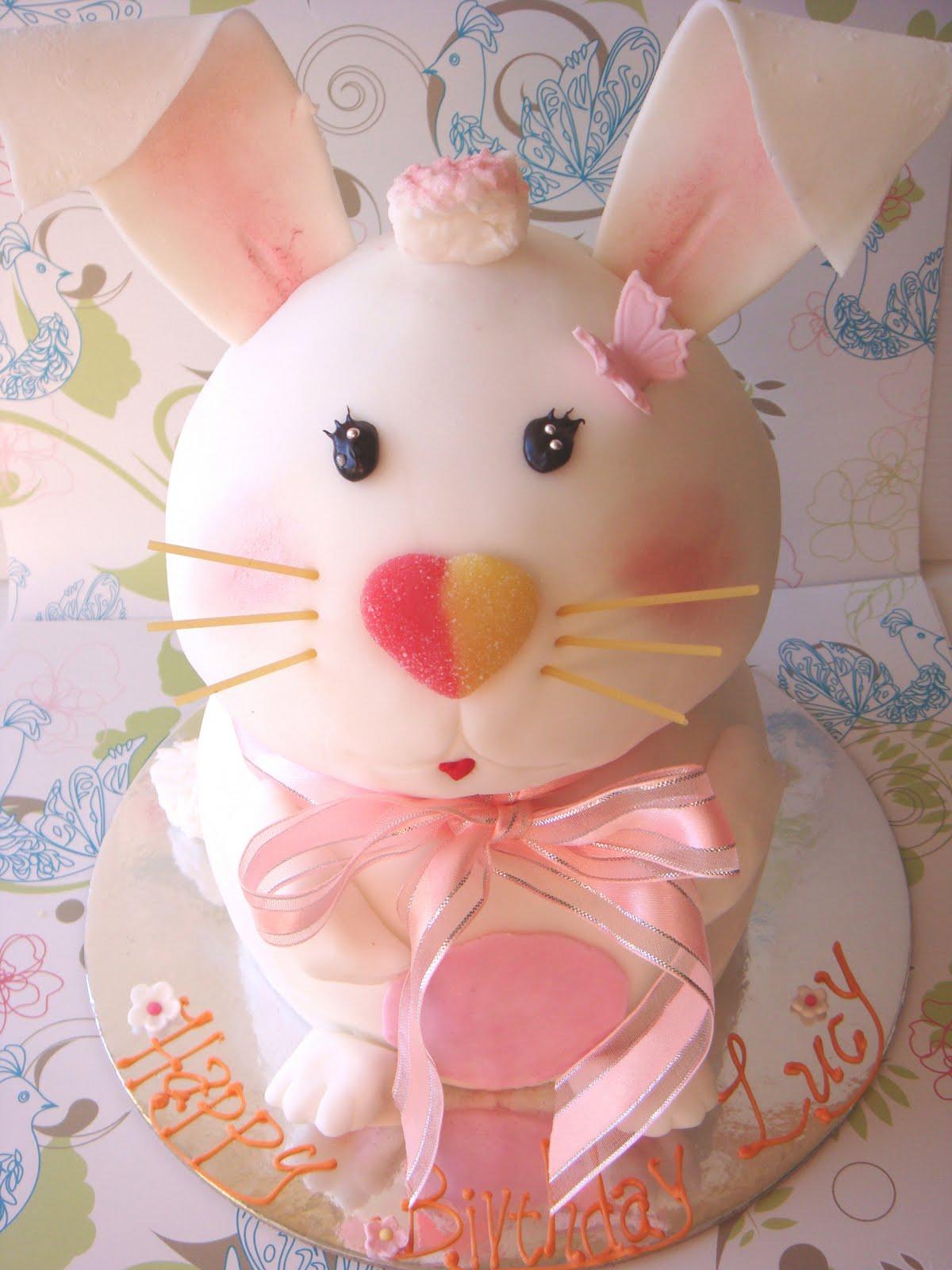 Marshmallow rabbit Birthday cake Emilys Sweet Treat