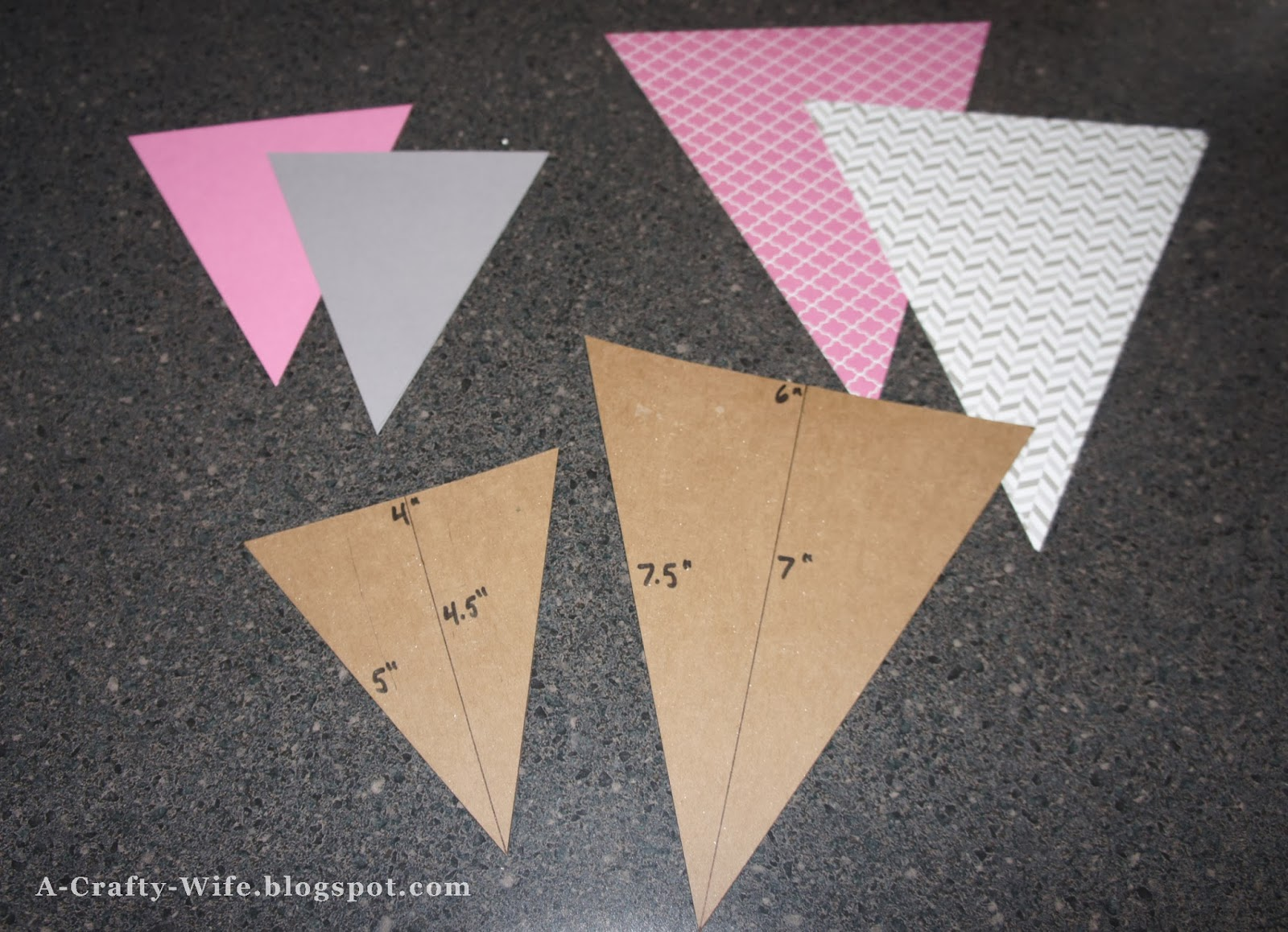 Making birthday pennants for ONEderland party  | A Crafty Wife