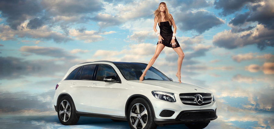 victoria secret model mercedes benz