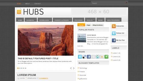 Hubs Blogger Template