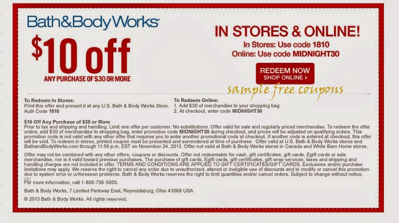 Bath and body works coupons 2018 december