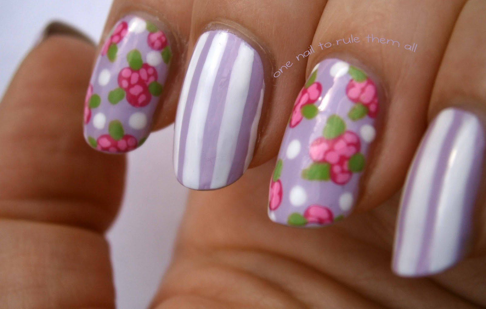 One Nail To Rule Them All: Barry M Lychee nail art