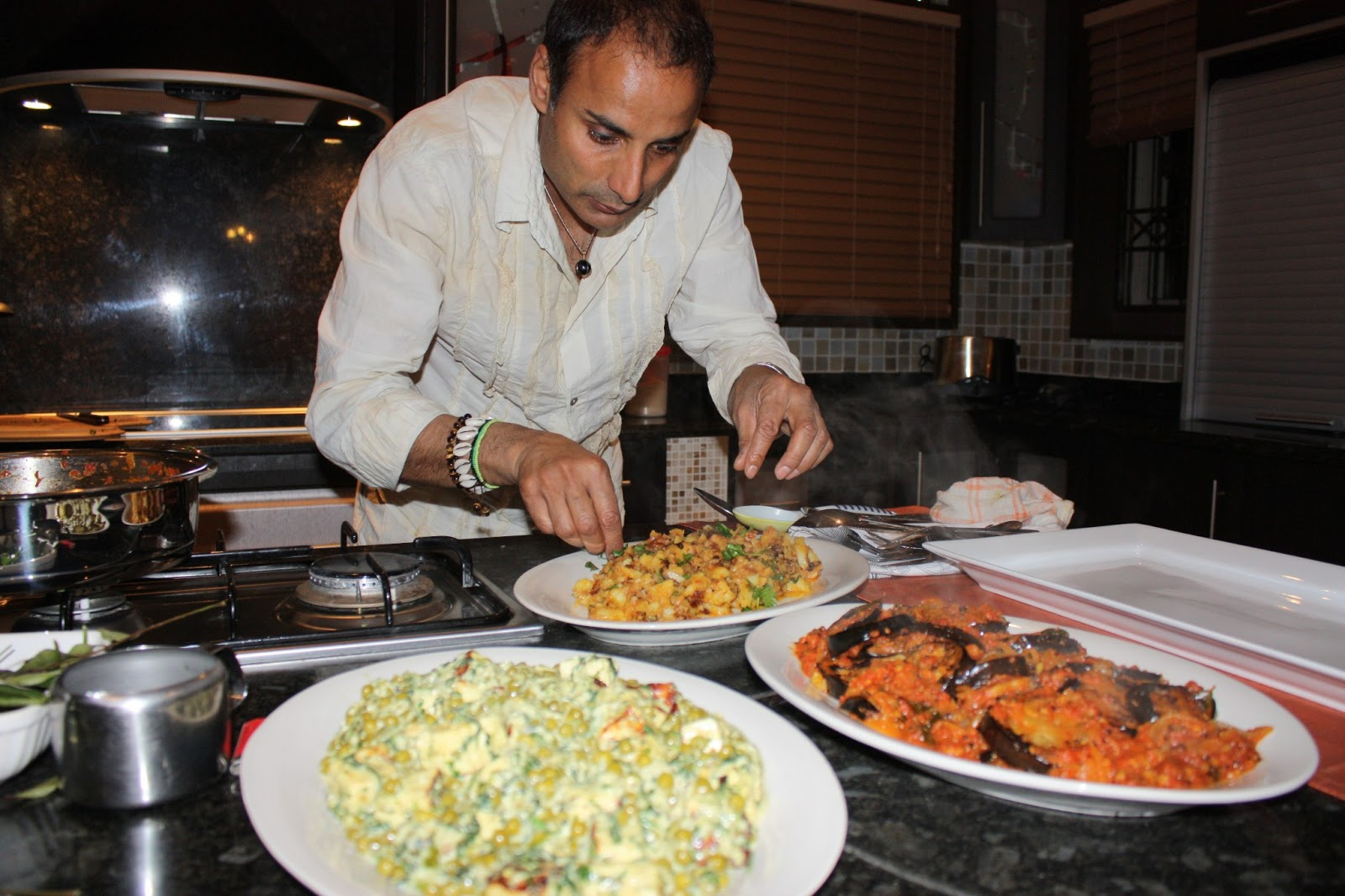 Tv with thinus chef reza in south africa to launch his for African kitchen
